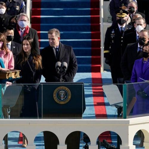 Joe Biden sworn in.