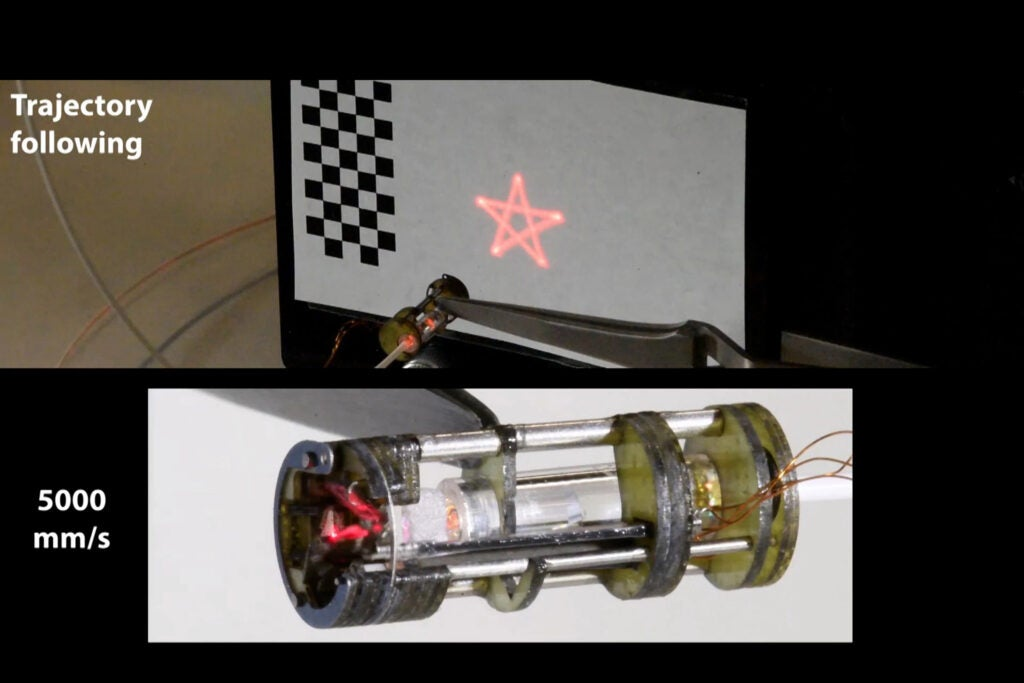 prototype of the laser steering device.