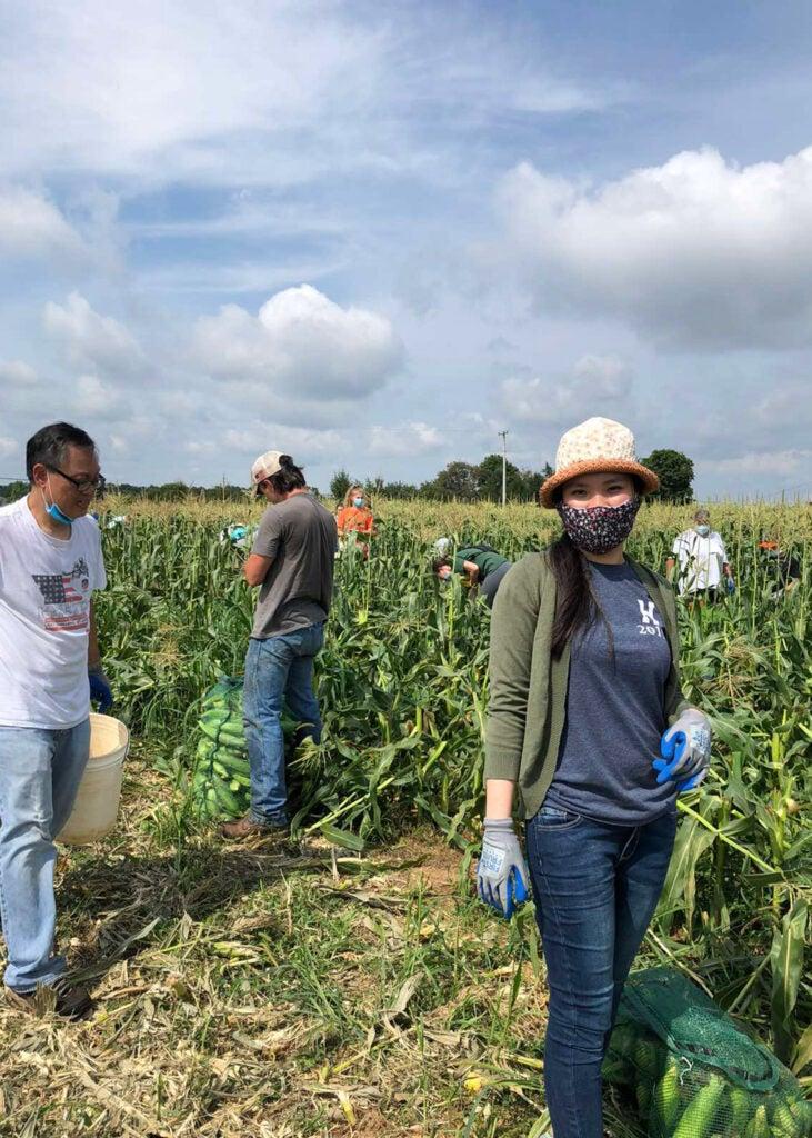 Nhu Dang in a field.