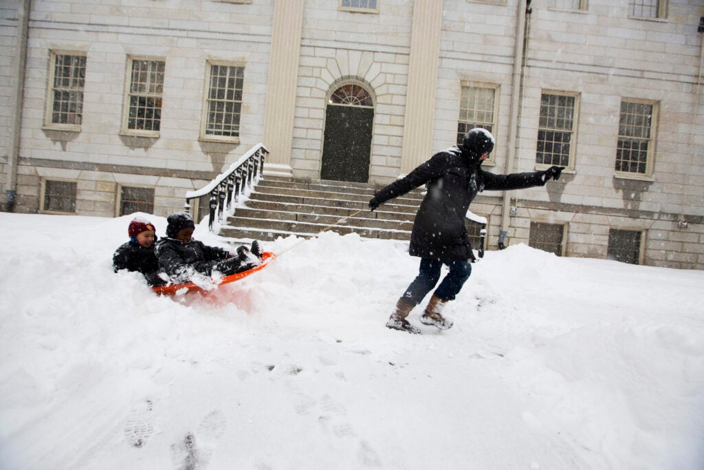 Playing in snow 2014.