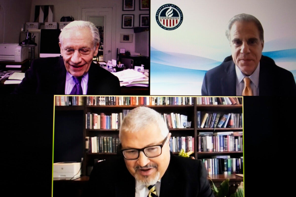 Bob Woodward on Zoom.