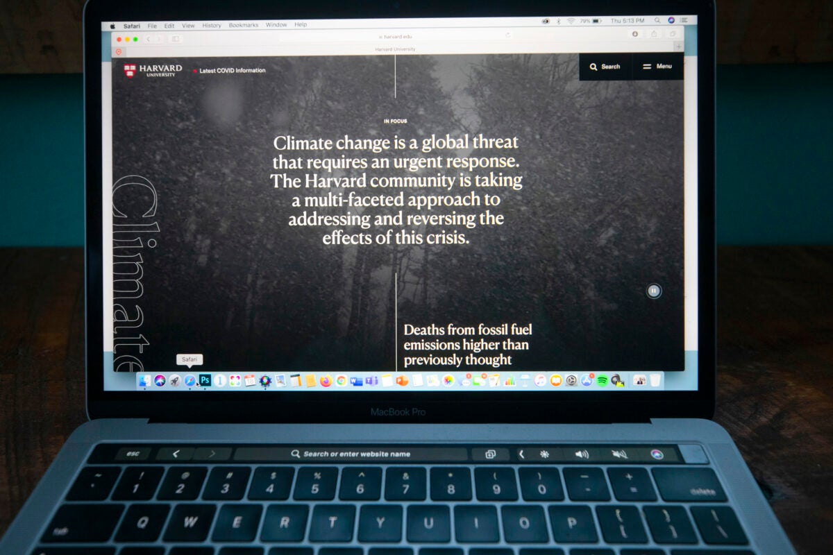 Computer with Harvard.edu on it.