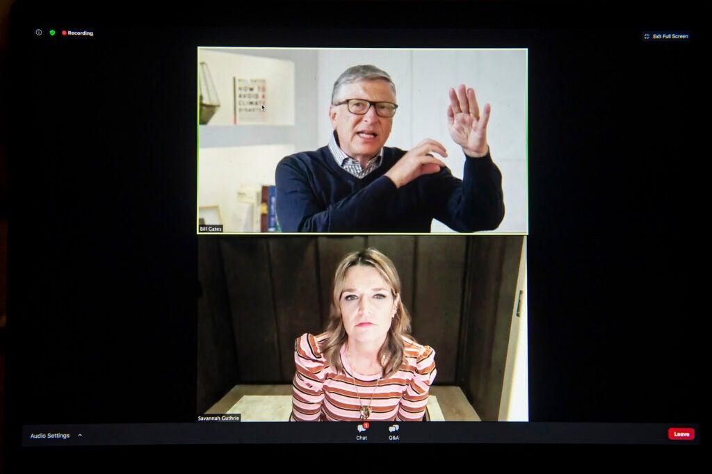 Harvard Science Book Talk: Bill Gates, interviewed by Savannah Guthrie.