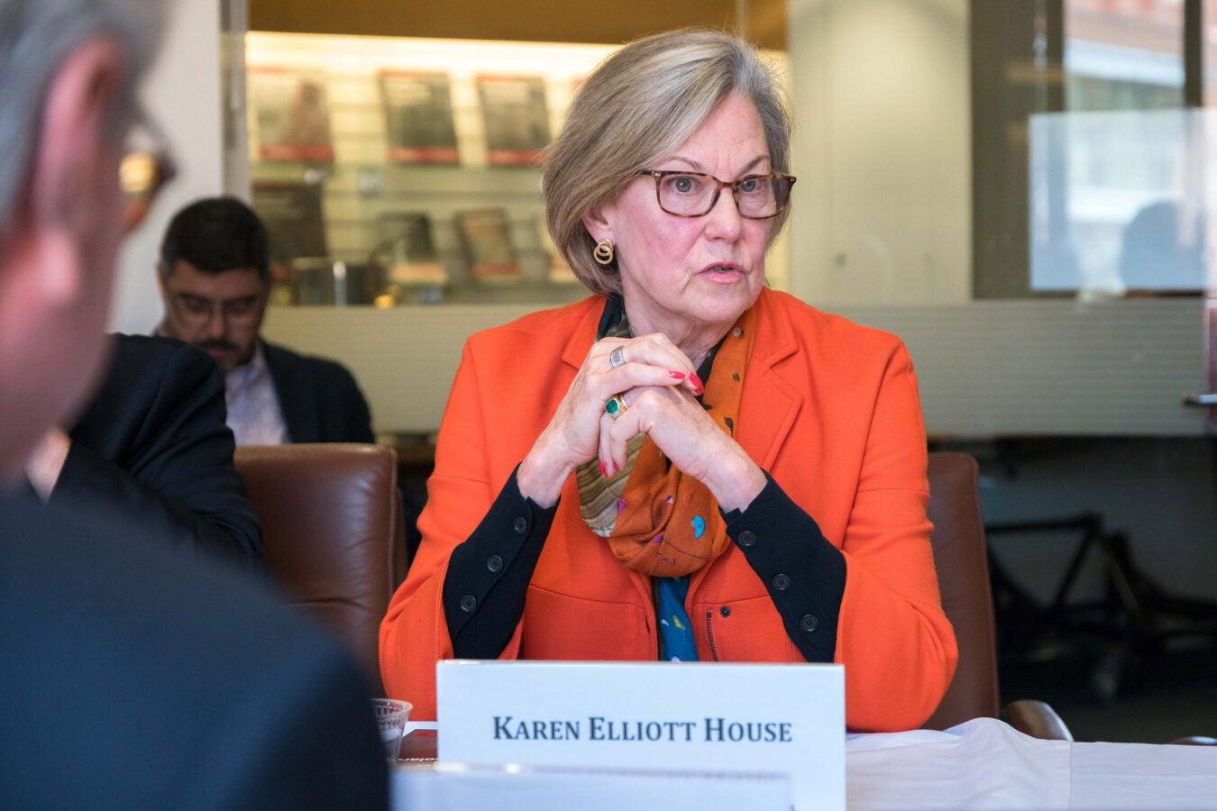 Karen Elliott House.