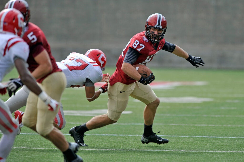 Cameron Brate playing goodball at Harvard.
