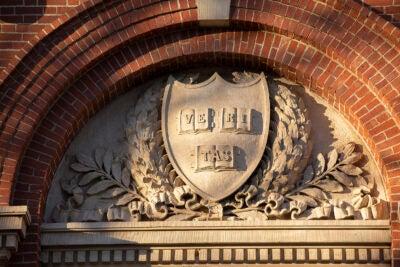 Harvard shield.