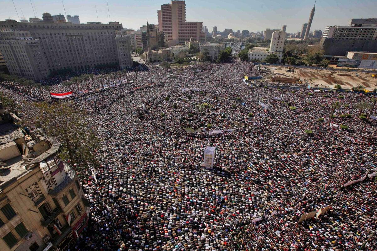 Arab Spring uprising in Egypt.