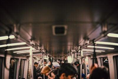 People on subway.