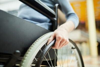 Women in wheelchair.
