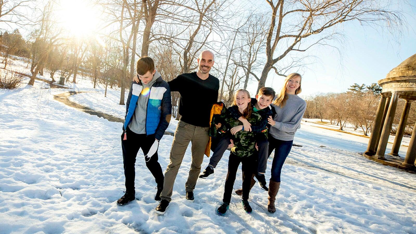 Joseph Allen and his family.