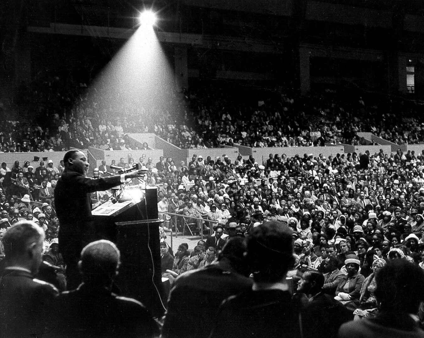 Martin Luther King Jr. at a rally.
