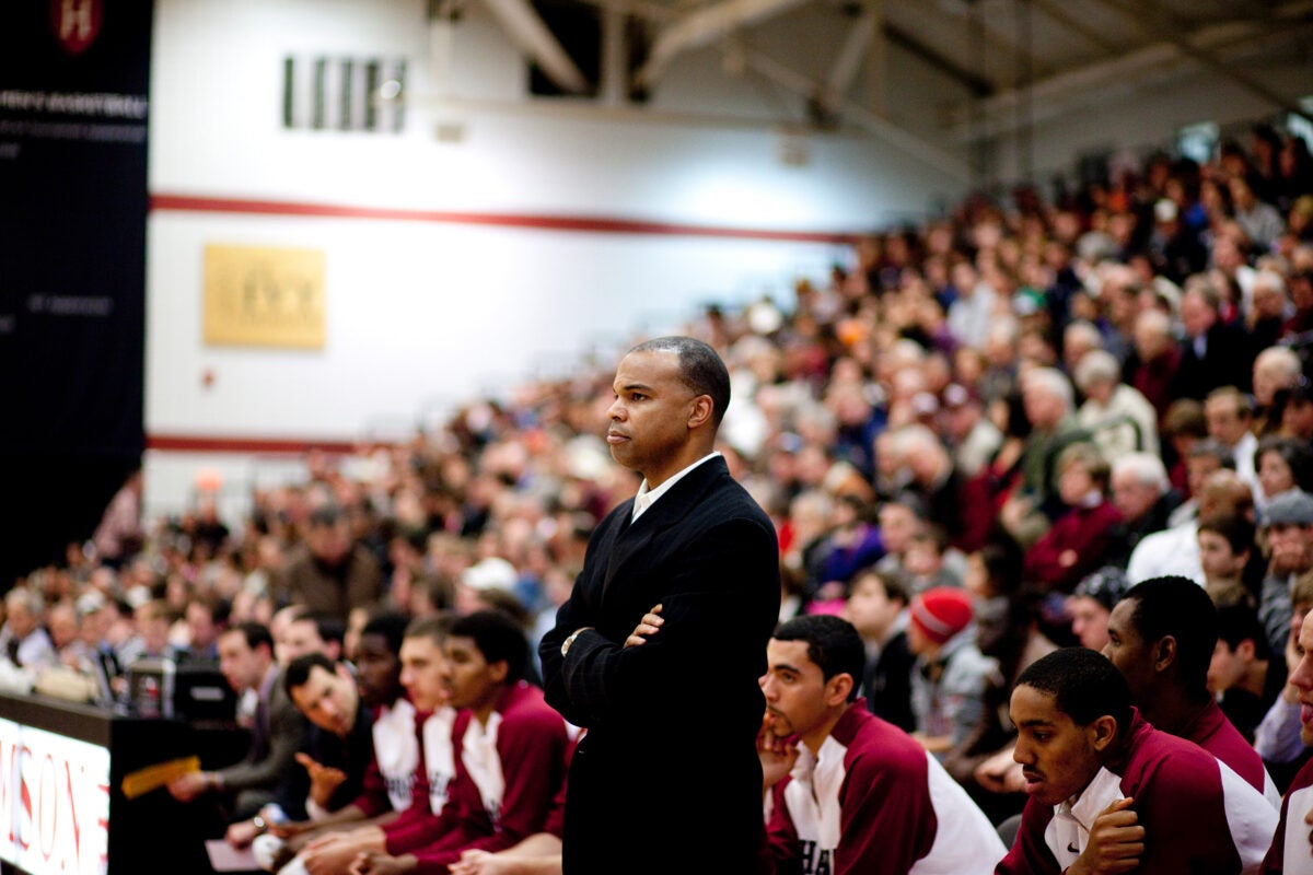 Coach Tommy Amaker at a 2012 game.