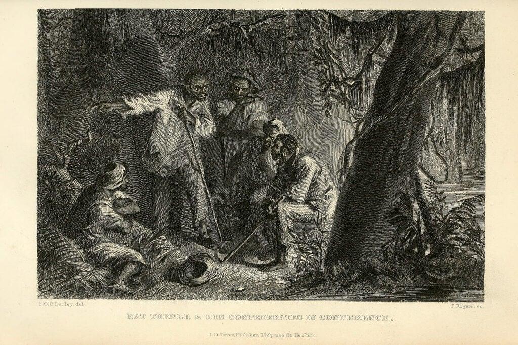 Illustration of Nat Turner's rebellion.