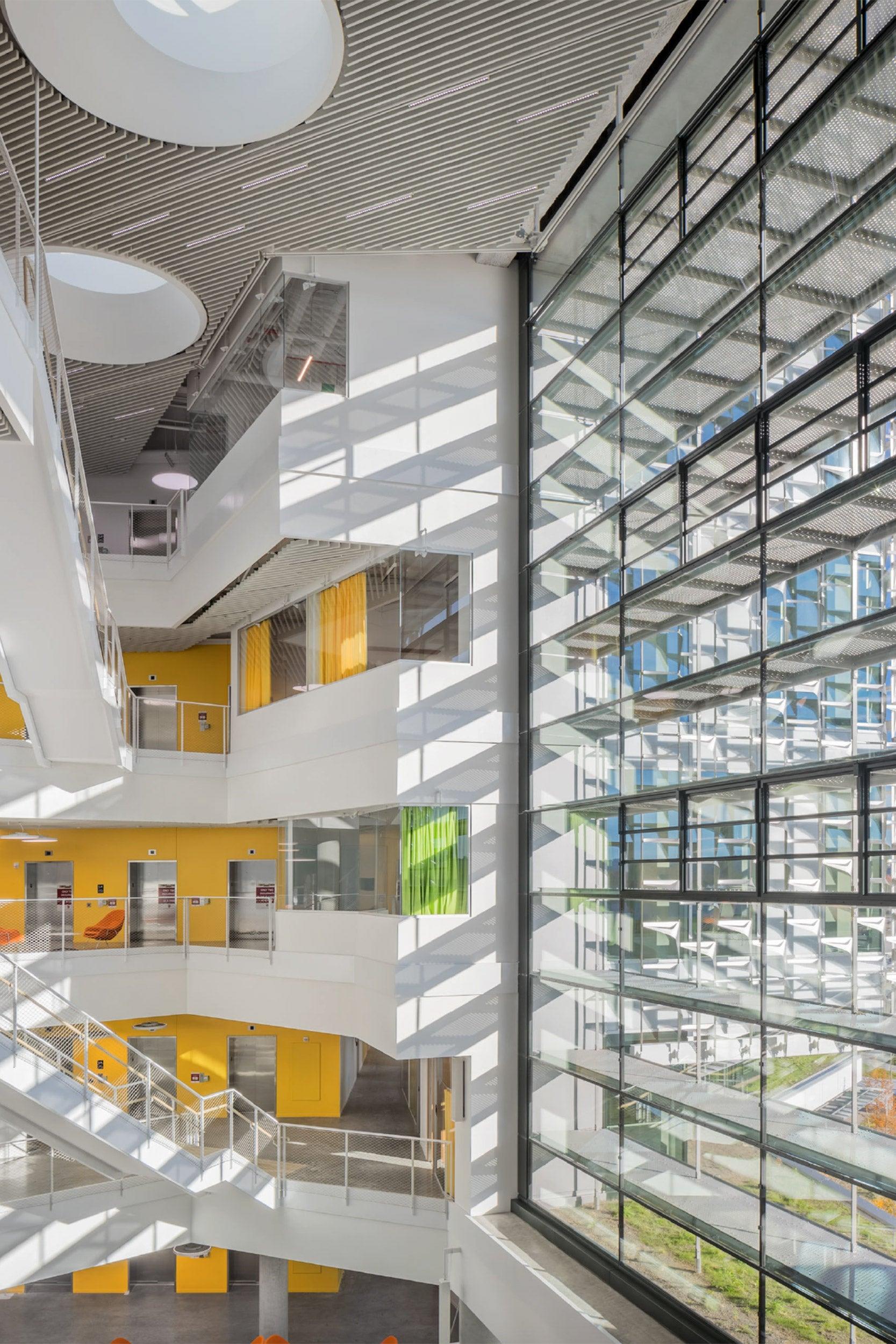 Atria inside the new SEC building.