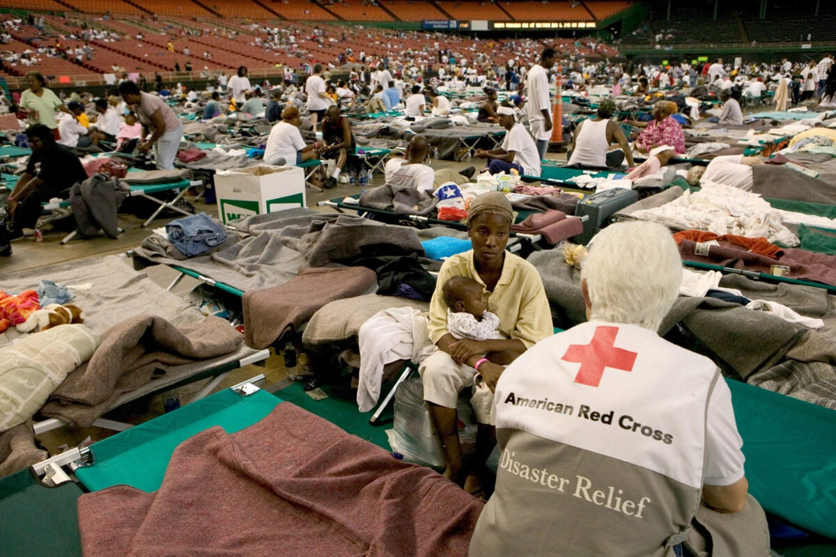 In 2005, survivors from Hurricane Katrina were temporarily housed in the Houston Astrodome. Harvard researchers looked at Katrina's impact on the children and how the lessons learned there could be applied to the current situation.
