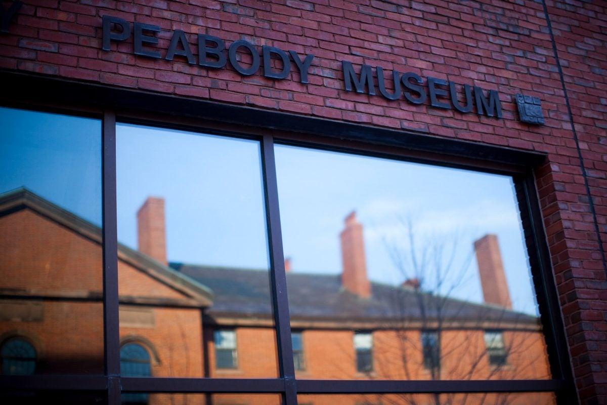 Peabody Museum window.