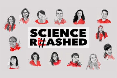 An illustration of the Science Rehashed team.