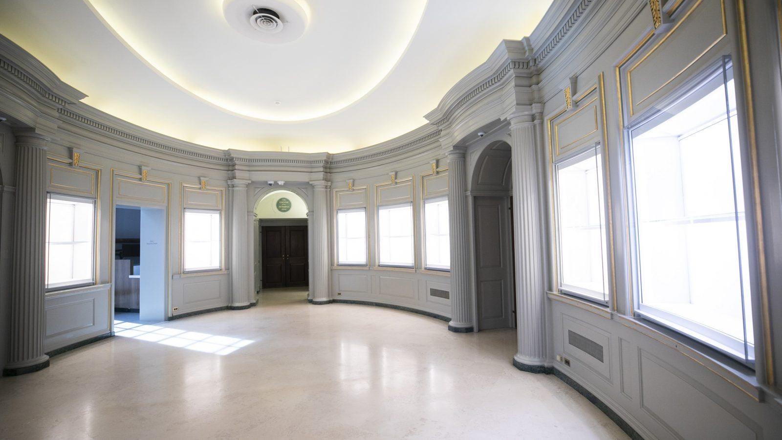 The lobby is pictured.