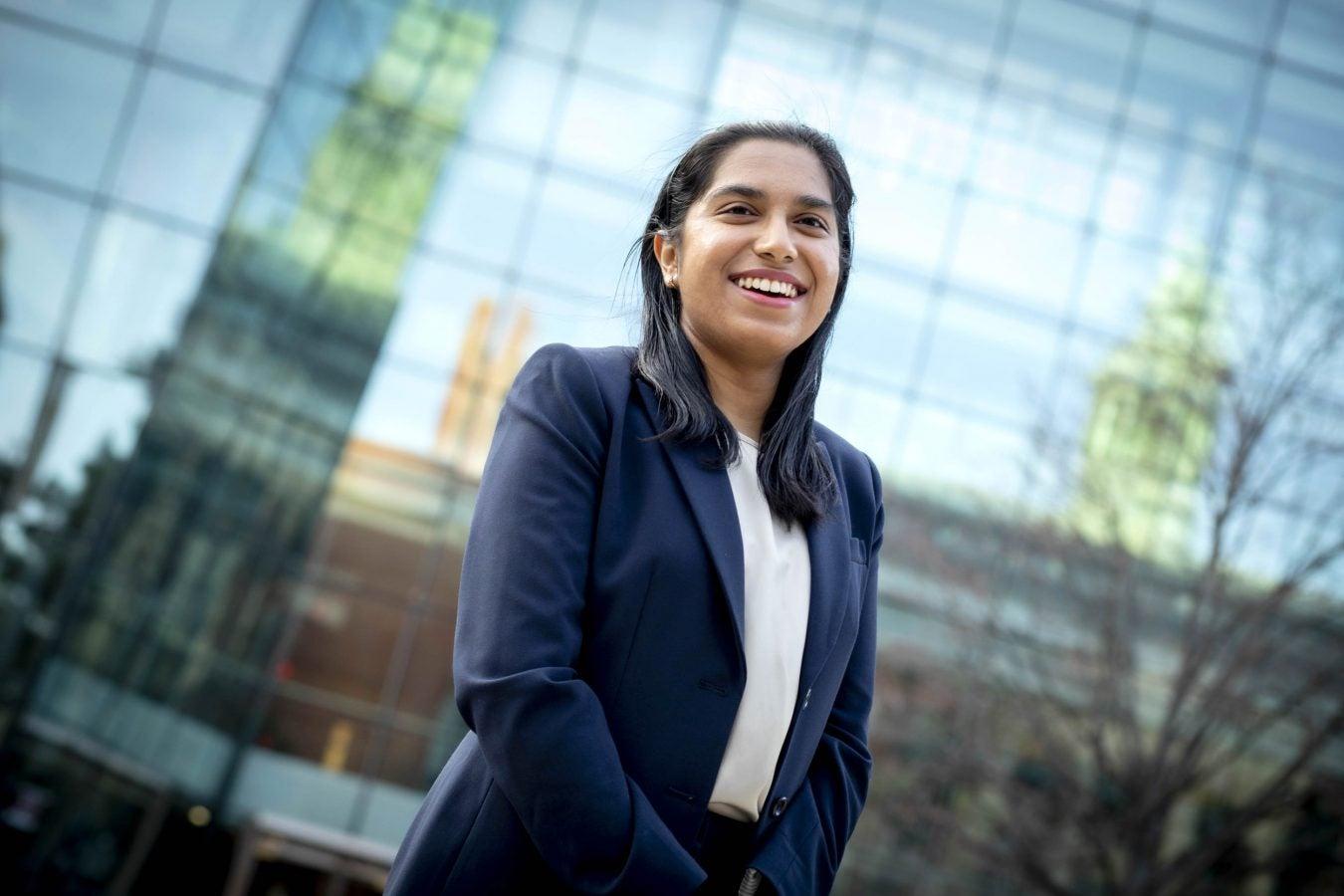 Harvard University Medical School student Pooja Chandrashekar is pictured.