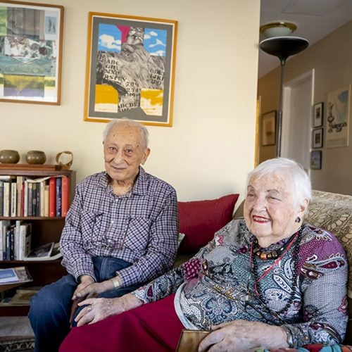 Herman and Judy Chernoff, married since 1947,