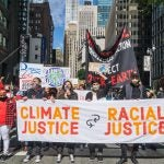 March in NYC demanding climate and racial equality.