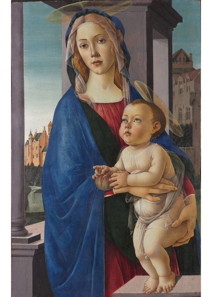 """The Virgin and Child"" by Botticelli."