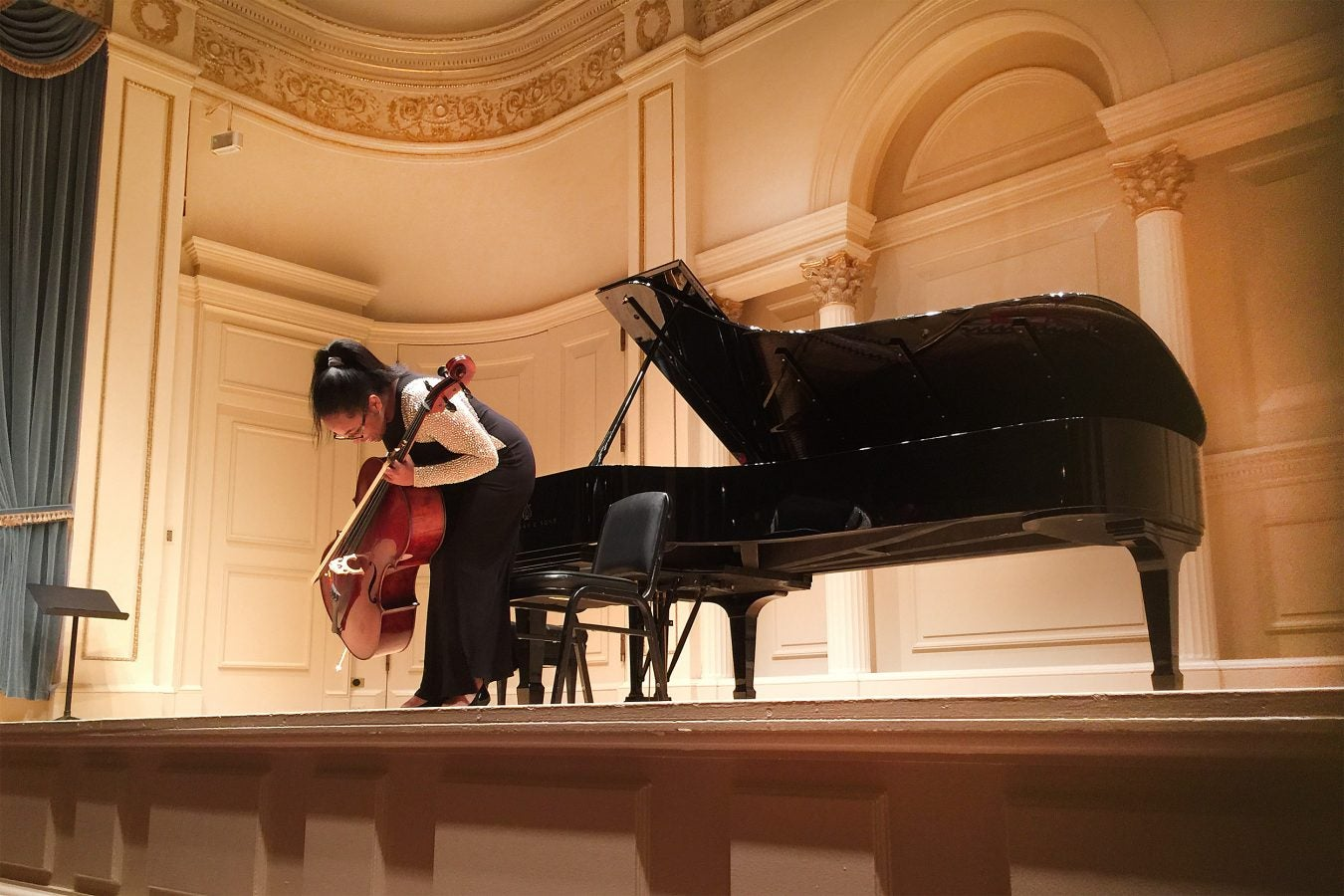 Daneille Davis performs as a soloist at Carnegie Hall in New York City.
