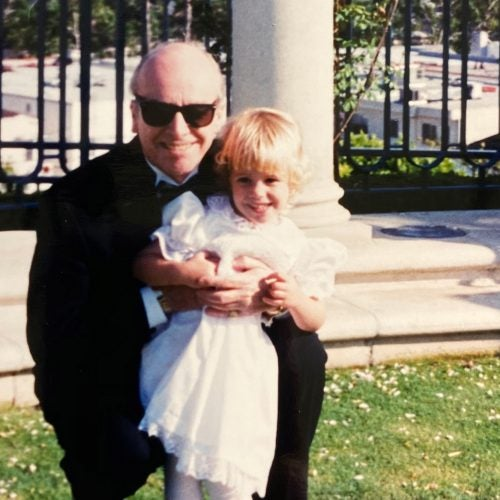 Shannon Freyer and her grandpa.