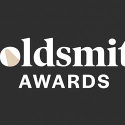 Goldsmith logo on black background.