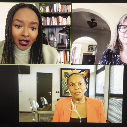 Christiane Taubira, Aminata Touré, and Mary Lewis.