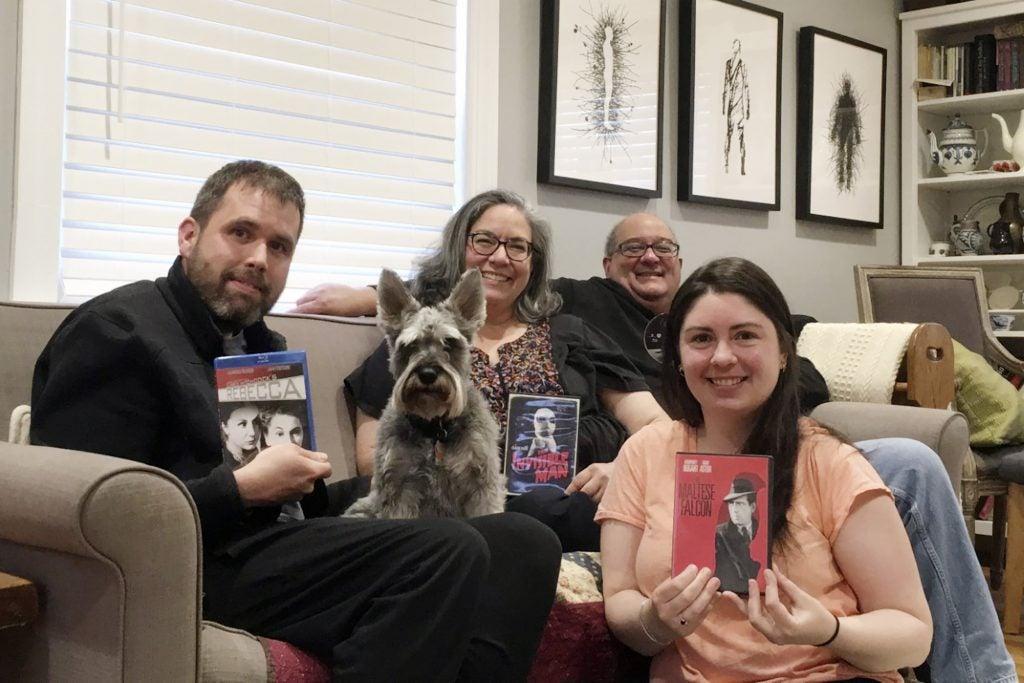 Meredith Vasta with her film club.