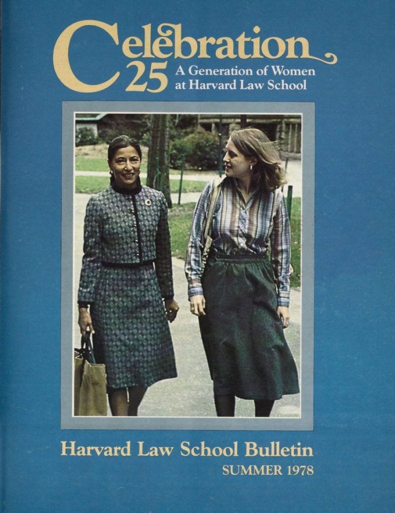 A Law School magazine with Ruth Bader Ginsberg on the cover.