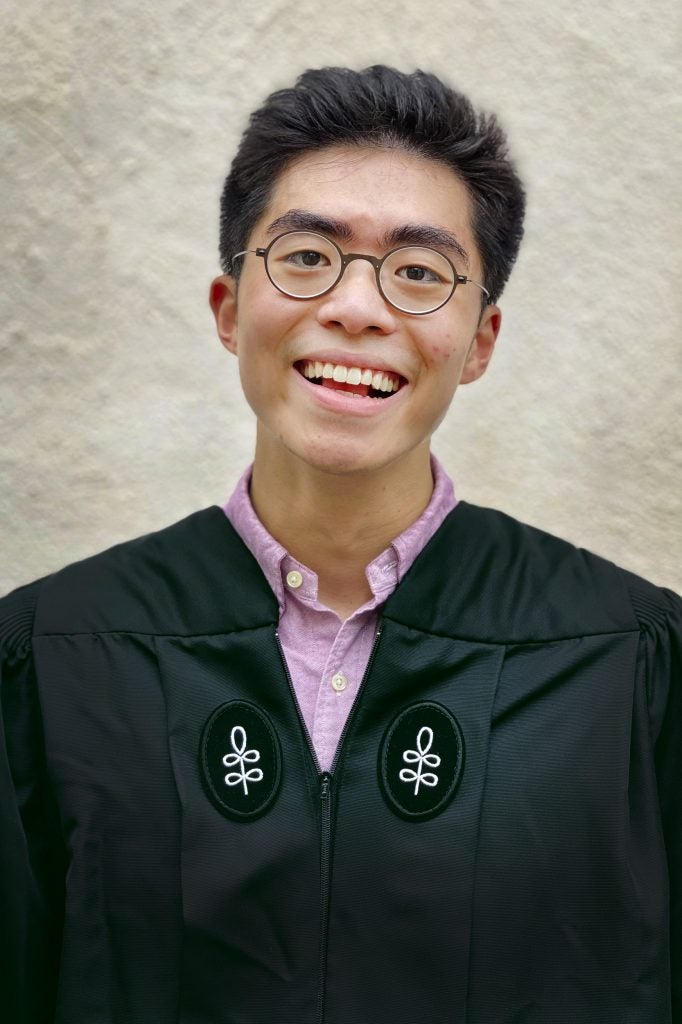 Justin Wei is pictured.