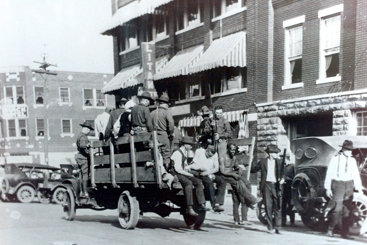 Men injured from the 1921 riots in Tulsa.