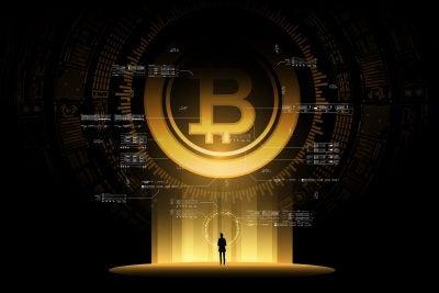 Bitcoin illustration.