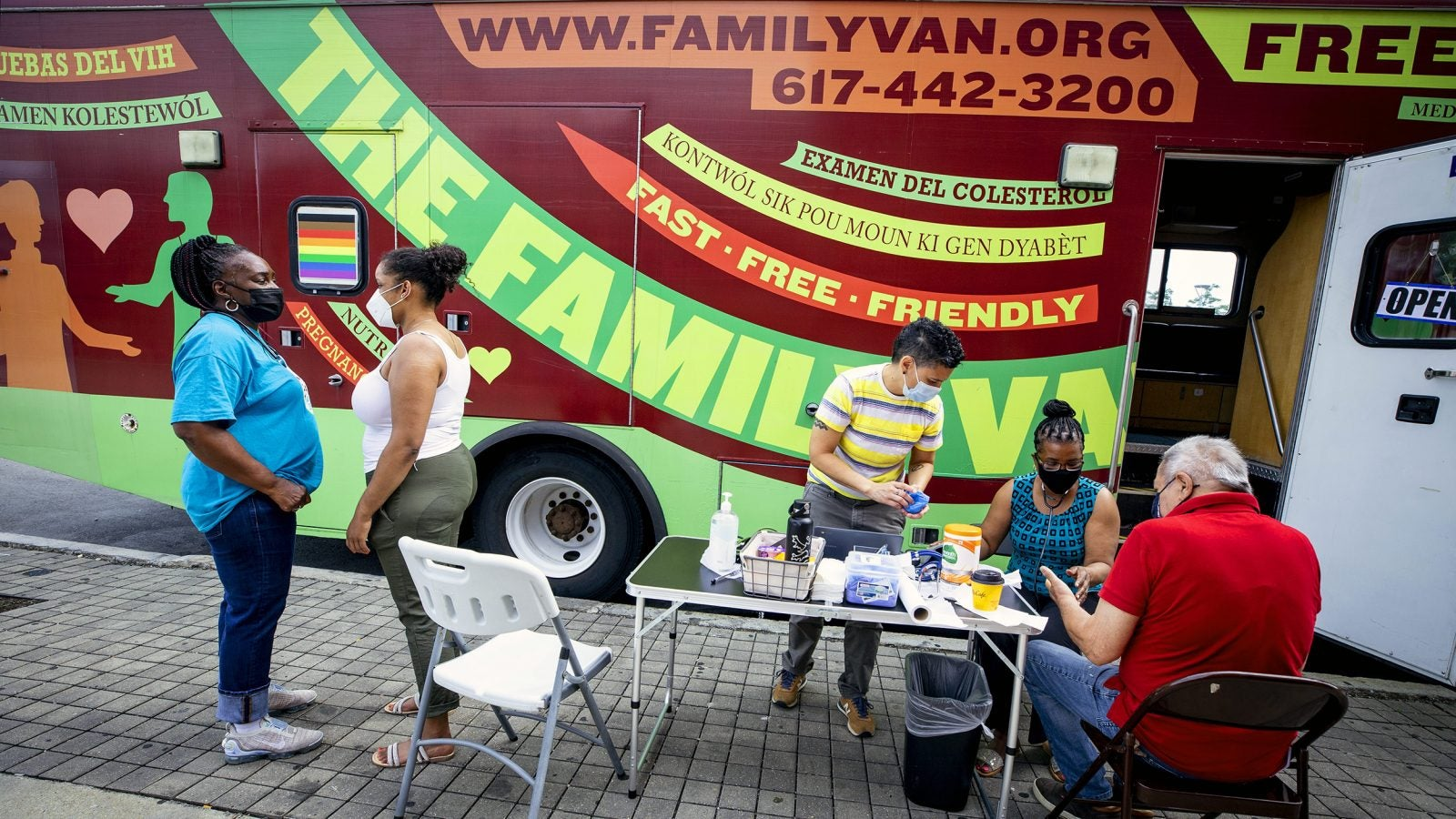 Harvard University's Family Van travels through the city of Boston providing basic medical attention to underserved communities in the Metro-Boston area.