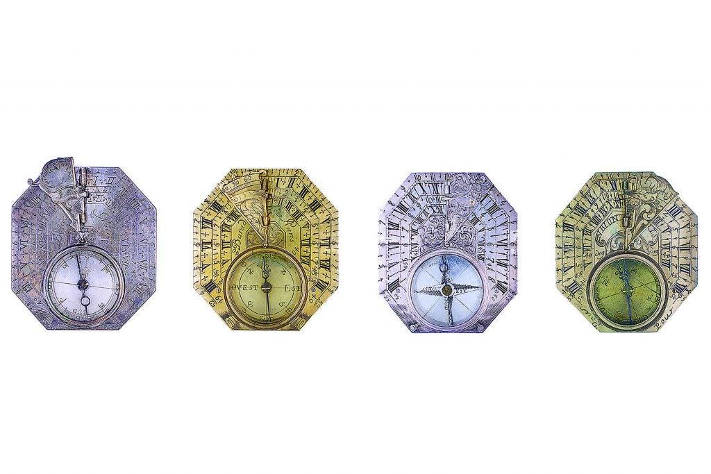 Butterfield style sundials.