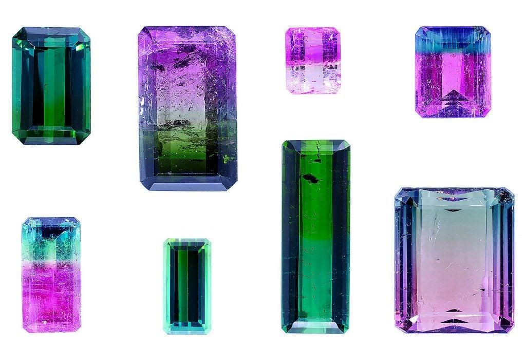 Tourmaline gemstones.