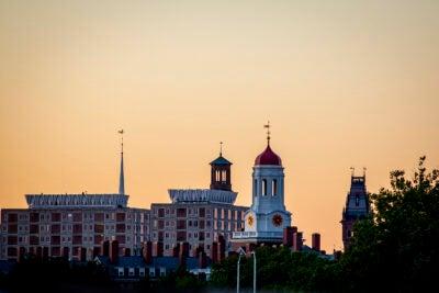 Sunset over Harvard.