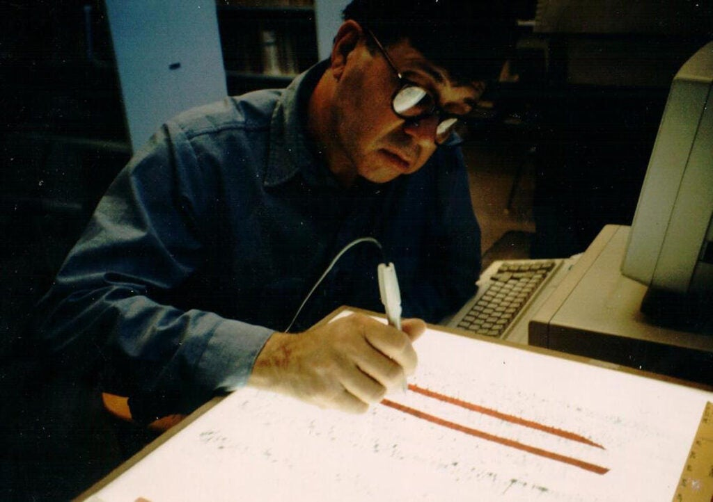 Dick Lewontin working.