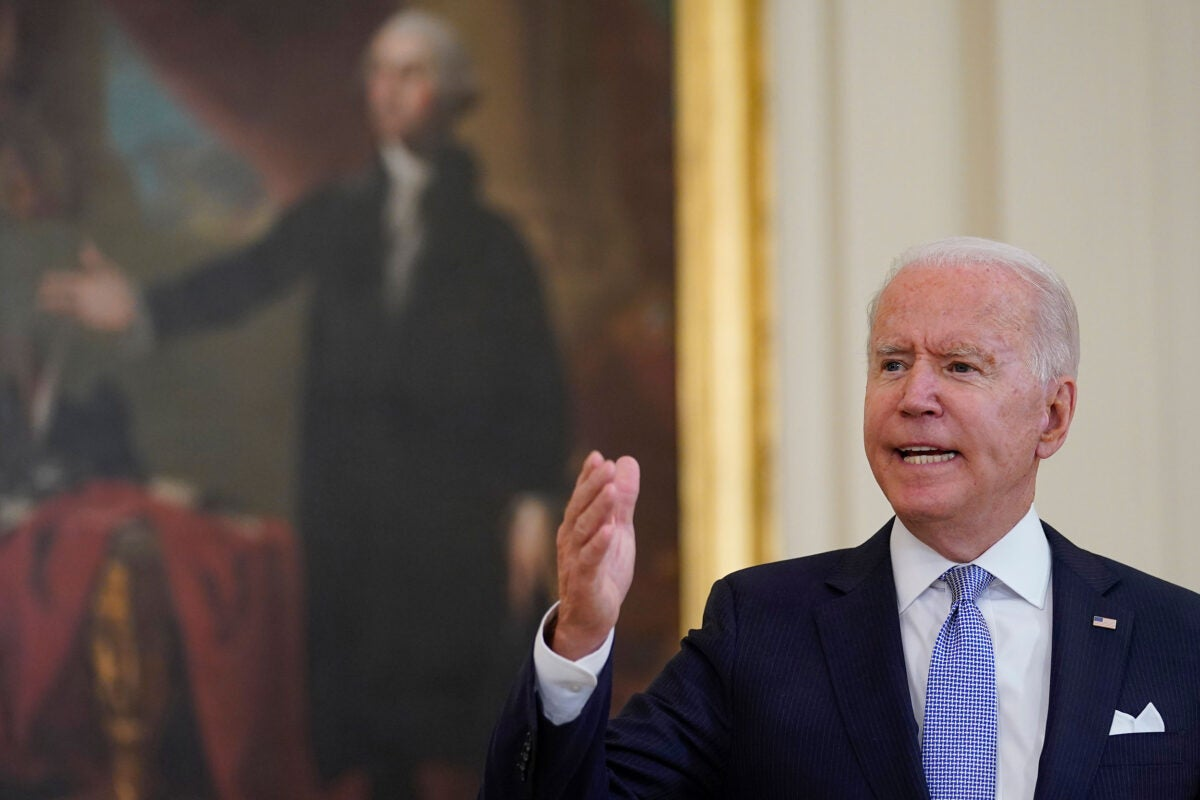President Biden at press conference.