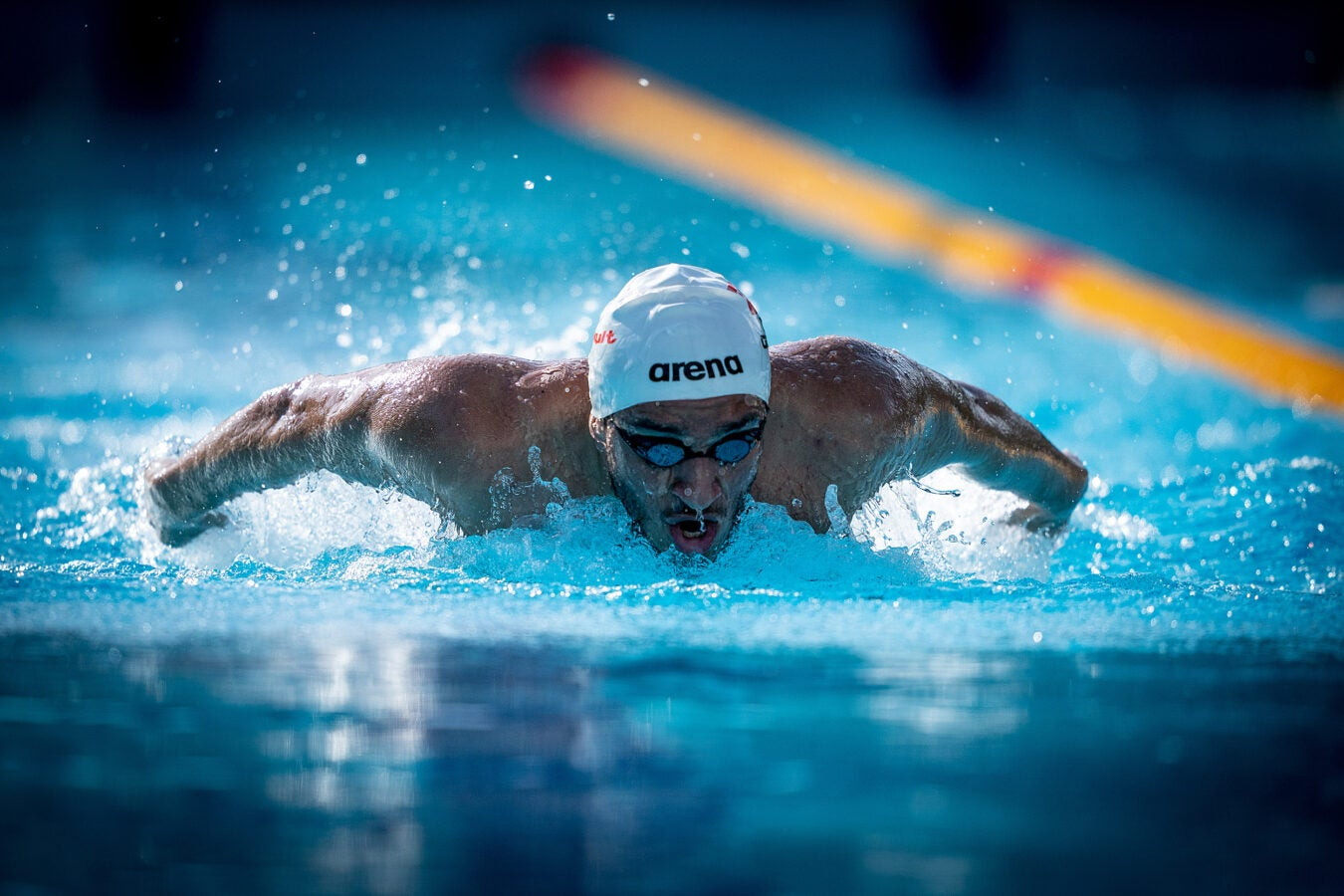 Umit Gures swimming.