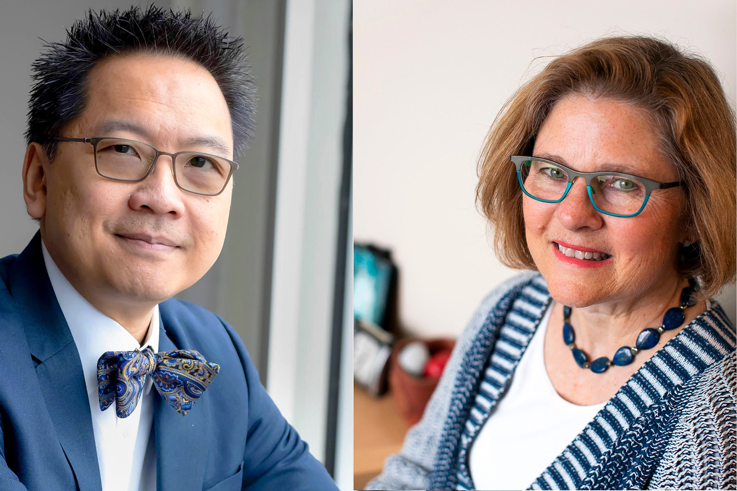 Giang Nguyen and Barbara Lewis,