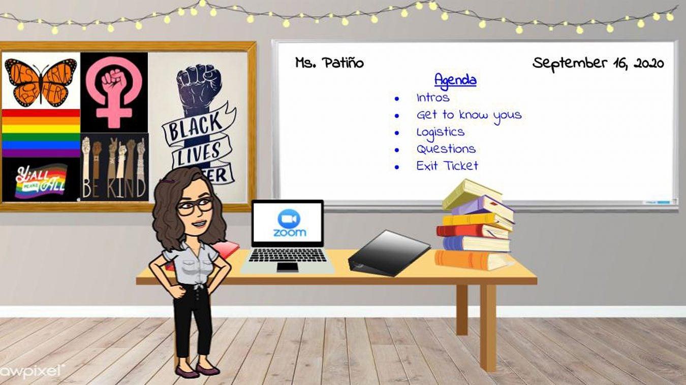 Online classroom.