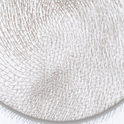 """Detail of Günther Uecker's """"Spiral White, 1963"""" (1985.23) at Harvard Art Museums."""