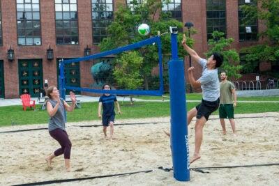 Rhino volleyball players.