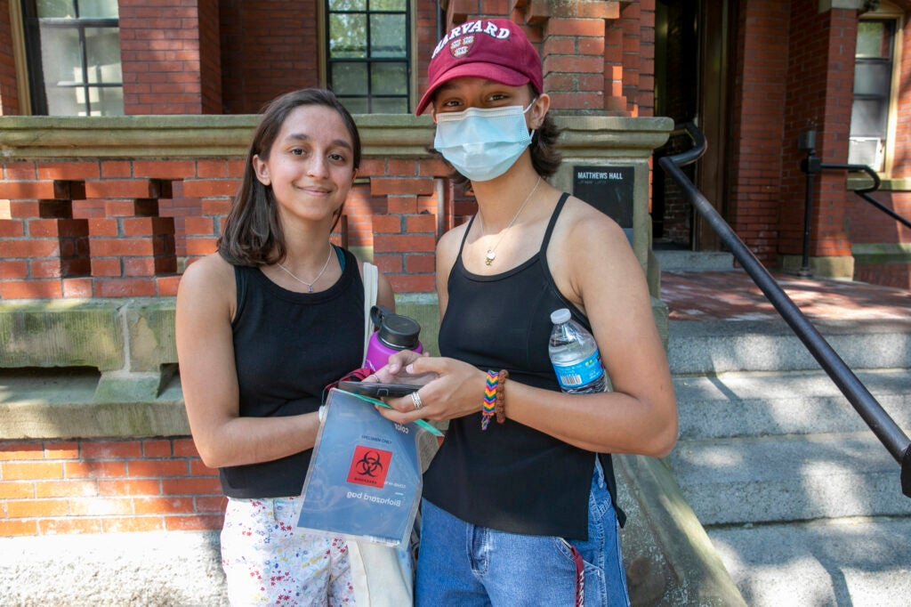 Two sisters who attend Harvard.