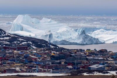 Greenland retreating icebergs.