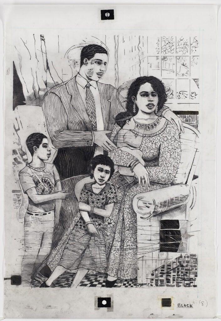 Delsarte art of a family.