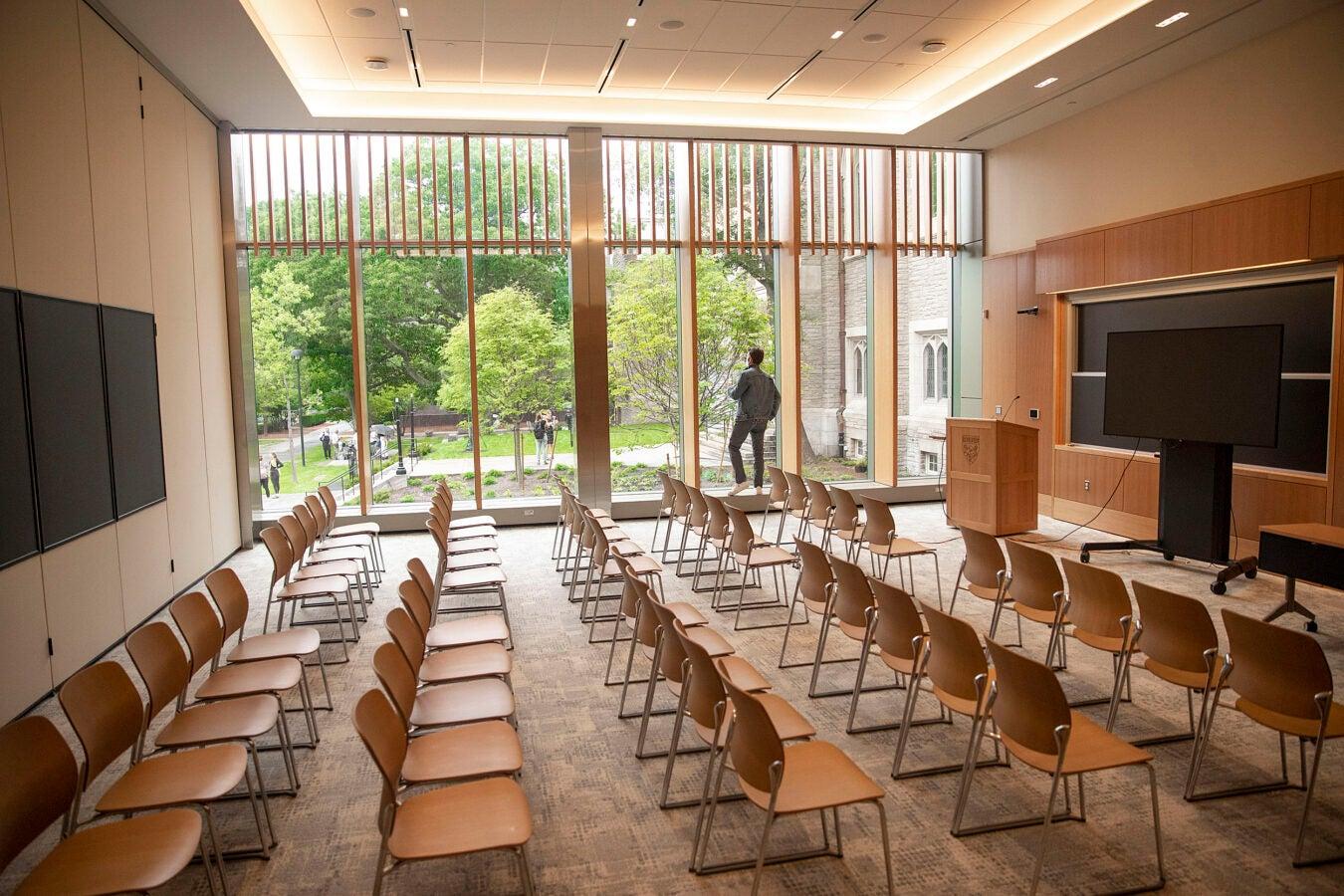 Swartz Hall classroom.